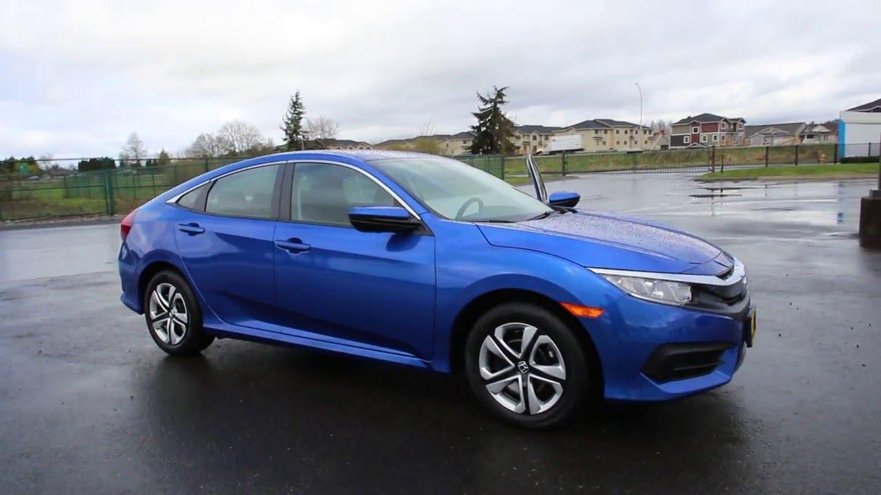 2016 Honda Civic Lx Aegean Blue Gh539857