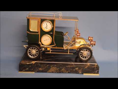 Very rare car industrial clock.