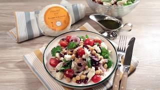 Салат с нутом и кавказским сыром