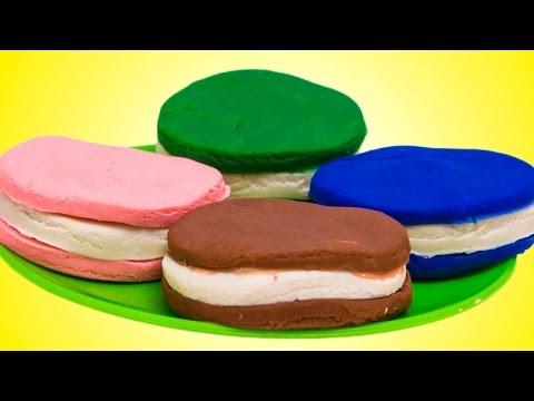 Play Doh Ice Cream Cupcakes Playset Playdough SURPRISE EGGS Hello Kitty Angry Birds