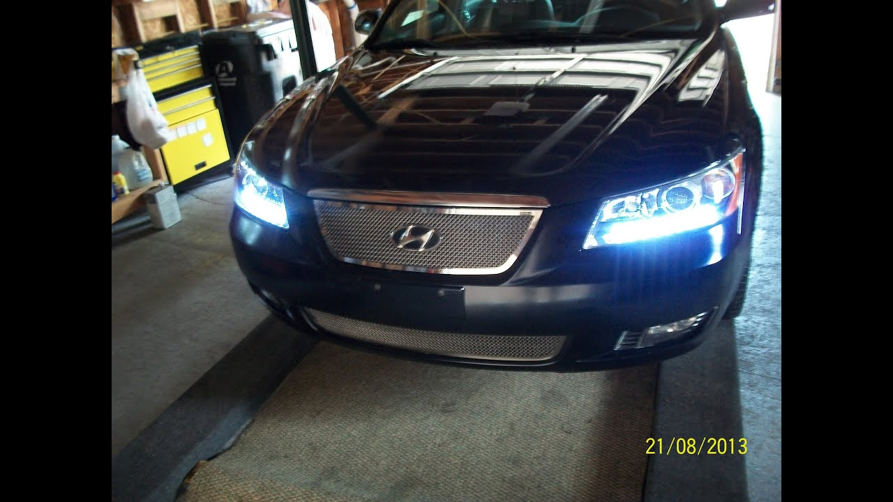 led daytime running lights for a 2006 hyundai sonata youtube. Black Bedroom Furniture Sets. Home Design Ideas