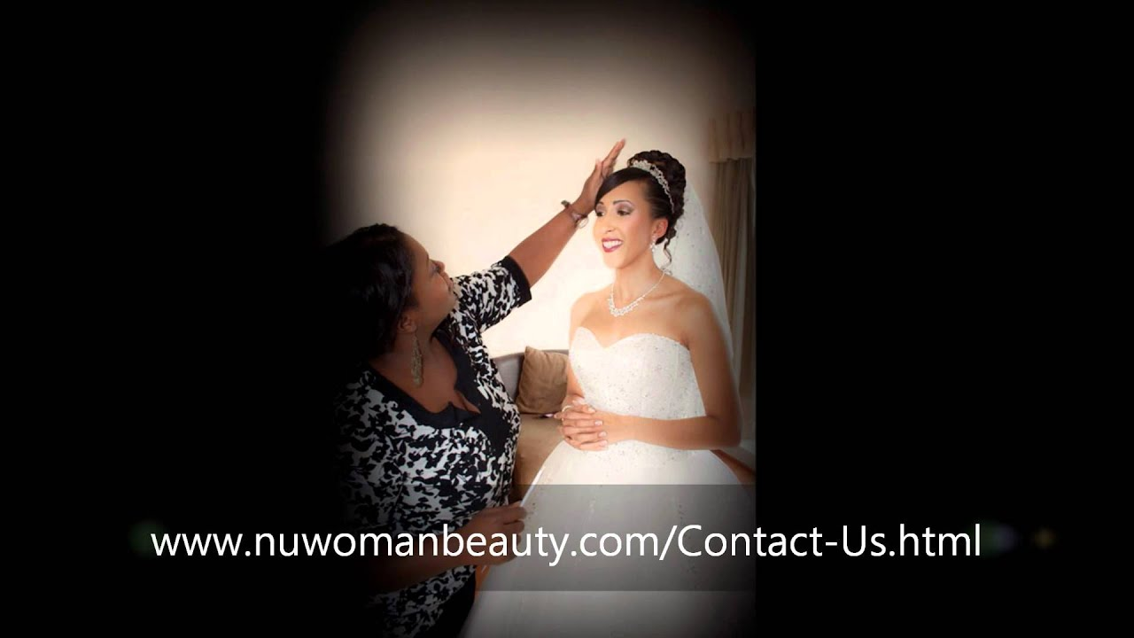Bridal Makeup for black skin women, mobile BRIDAL HAIR