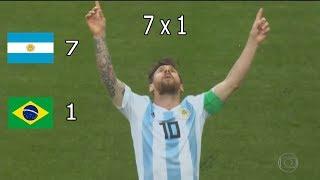 Argentina 7 x 1 Brasil  - Copa América 2019 - Semifinal - P...