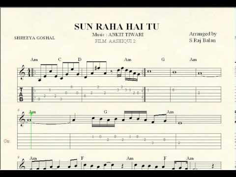 Guitar guitar chords bollywood songs : Guitar Sheet Music For Hindi Songs - selected hindi songs with ...