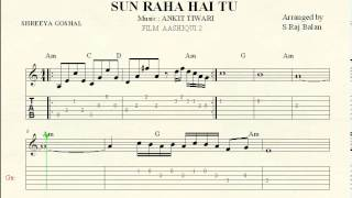 SUN RAHA HAI NA TU keyboard piano guitar notations sheet music
