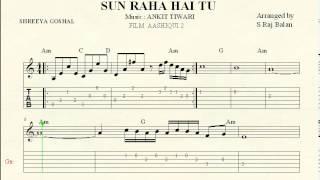 SUN RAHA HAI NA TU keyboard piano guitar notations sheet music
