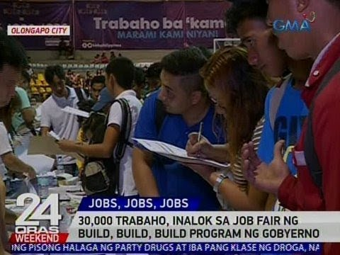 24 Oras: 30,000 trabaho, inalok sa job fair ng Build, Build, Build Program ng gobyerno