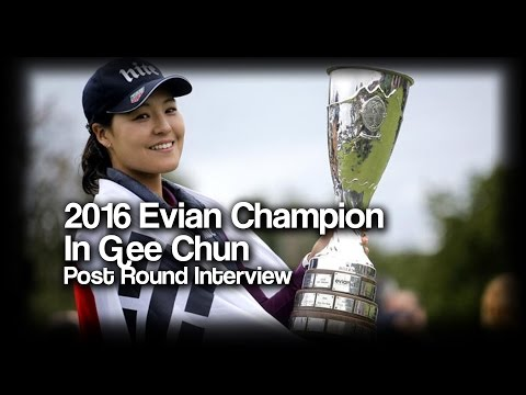 In Gee Chun 2016 Evian Champion! - In Gee's graceful post interview