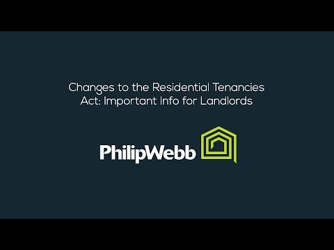 Changes to the Residential Tenancies Act: Important Info for Landlords