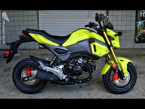 2017 Honda Grom 125 Walk-Around Video - (Bright Yellow) | Motorcycle Reviews at HondaProKevin.com