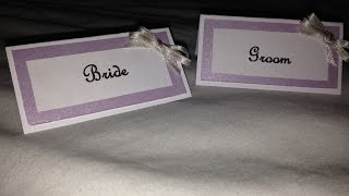 Wedding Place Cards Tutorial