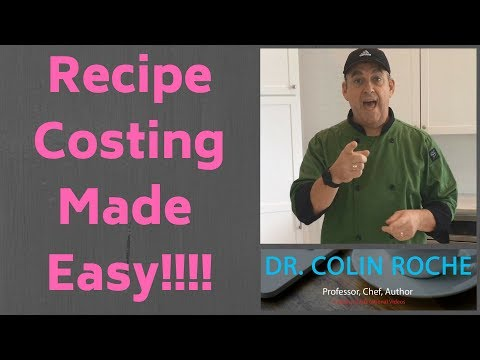Recipe Costing - LESSON 2 - YouTube