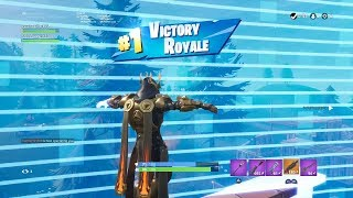 "FORTNITE First Win with GOLD ""ICE KING"" SKIN (TIER 100 OUTFIT) 