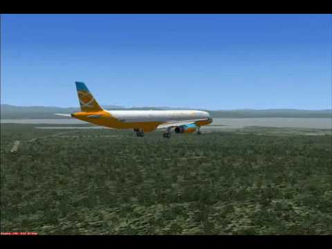 FSX: Orbit Airlines comes in for a landing on a short flight from KBOS to  KBTV