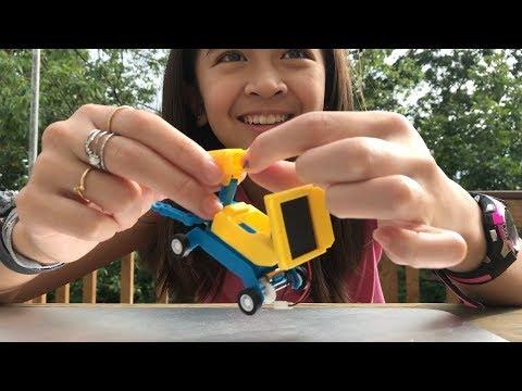 Tenergy Odev Geo STEM DIY Building Toy 2-in-1 Salt Water Or Solar Powered Robot Car Kit