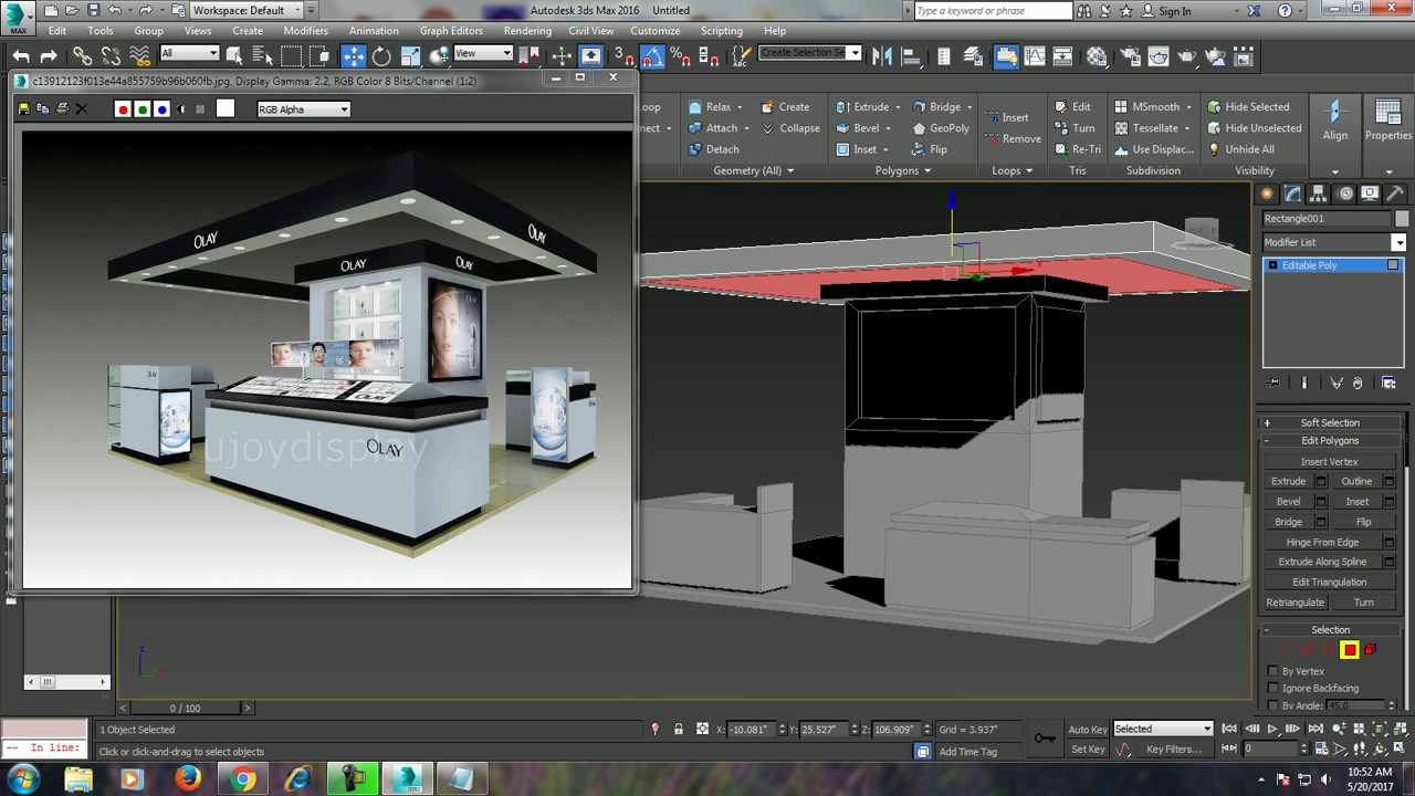 Exhibition Stand Design 3d Max : Tutorial on modeling a basic stall design in dsmax youtube