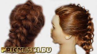 Французская коса  Плетение французской ажурной косы