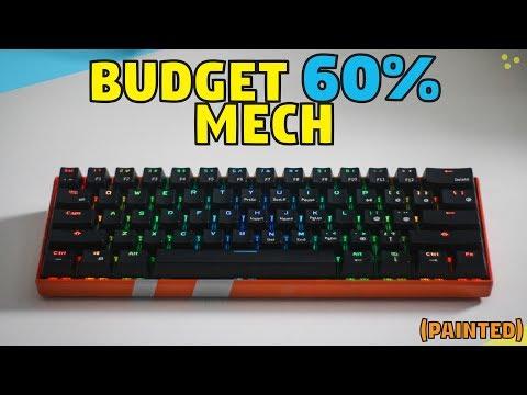 MantisTek GK3-61 Wireless Mechanical Keyboard - Unboxing & Review + Paint