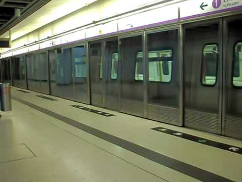 A K-Train departing from Hang Hau for its first run of the day