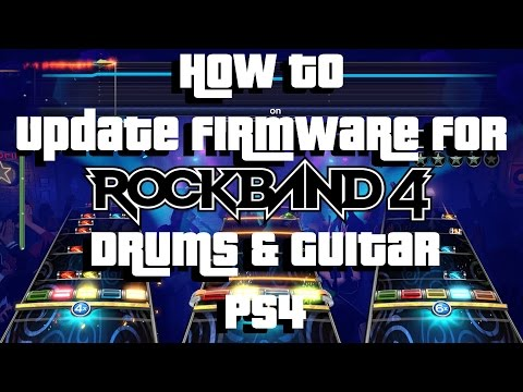 How To Update Rock Band 4 Drums and Guitar [PS4] : Rockband