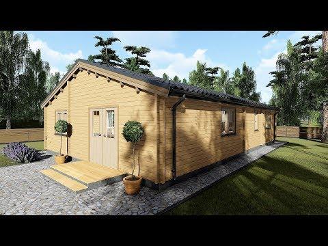 Model 19XL 3 bedroom log cabin 1000sq ft