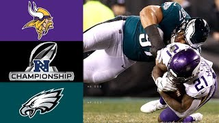 Vikings vs Eagles  NFL NFC Championship Game Highlights