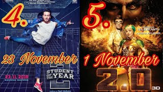 Top 5 Upcoming Bollywood Movies | Student Of The Year 2 | Tiger Shroff