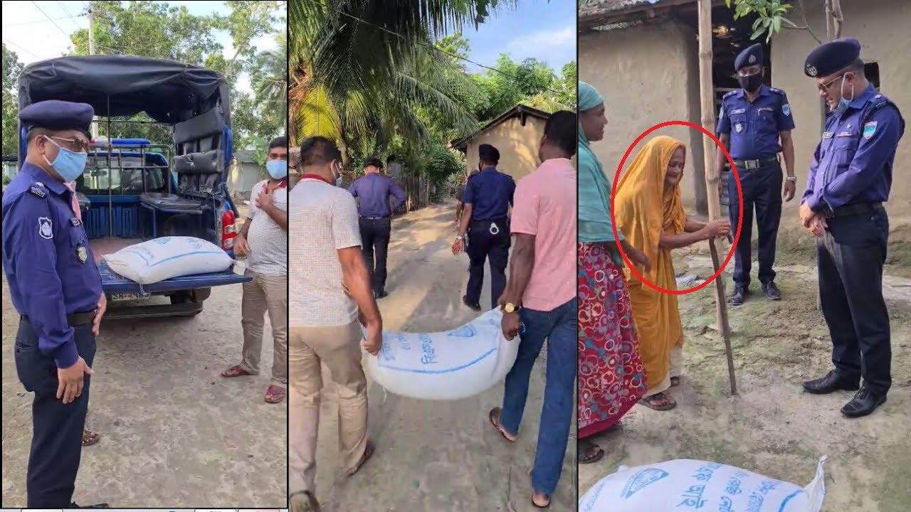 এবার শতবর্ষী অসহায় বৃদ্ধার পাশে চৌগাছা থানা পুলিশ    BD Police News Update