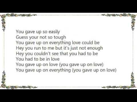 Boston - You Gave Up on Love 2.0 Lyrics