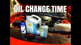 2017 Charger 3.6L Pentastar oil change | How to