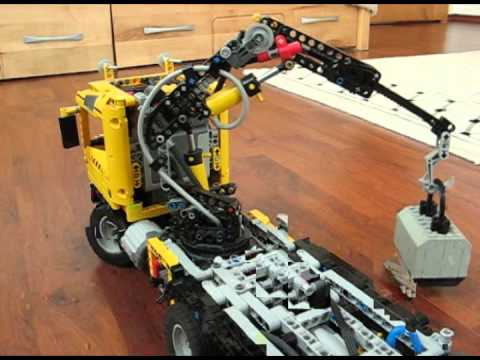 lego technic professional crane truck youtube. Black Bedroom Furniture Sets. Home Design Ideas