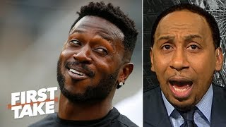 Antonio Brown lowered his trade value by 'opening his mouth' - Stephen A.   First Take