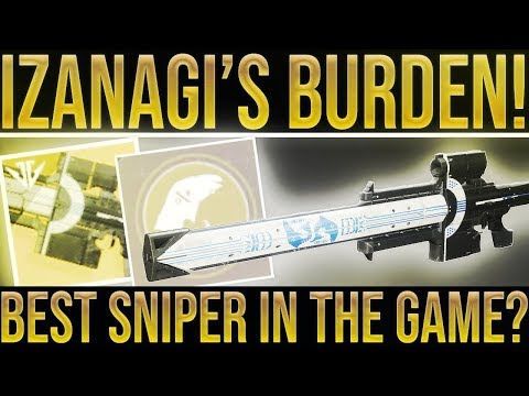 Destiny 2. IZANAGI'S BURDEN EXOTIC SNIPER REVIEW! Best Sniper In The Game? Black Armory Exotic. thumbnail