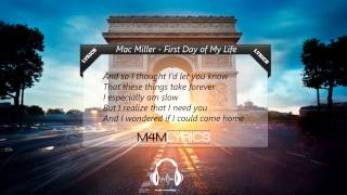 Mac Miller - First Day of My Life (Bright Eyes Acoustic Cover) | Lyrics