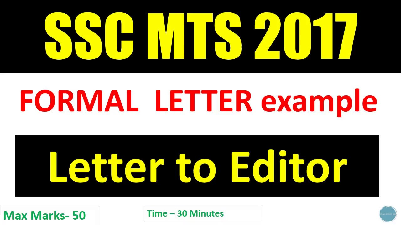 Ssc Mts Descriptive Letter To Editor Formal Letter Example  Youtube