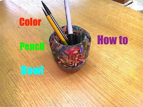 how to make a color pencil bowl epoxy resin and color. Black Bedroom Furniture Sets. Home Design Ideas