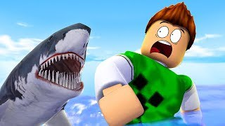 The shark WILL GET ME?! -Roblox