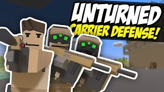 AIRCRAFT CARRIER DEFENSE - Unturned Base Raid   Defend The Ship!