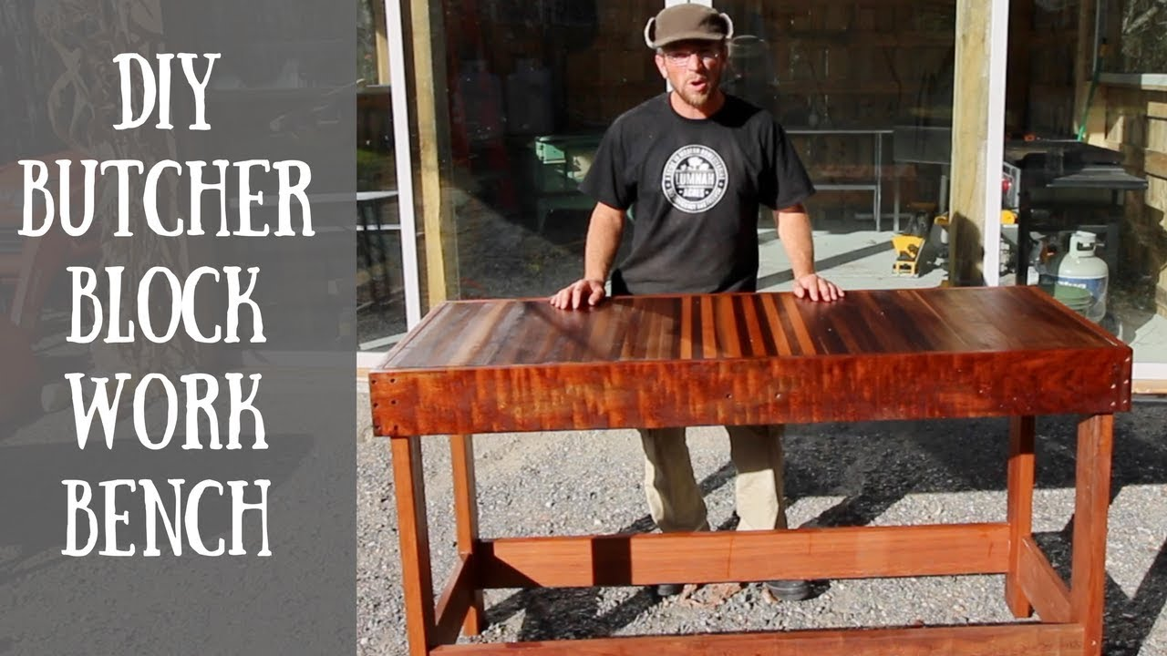 Building a DIY Butcher Block Work Bench YouTube