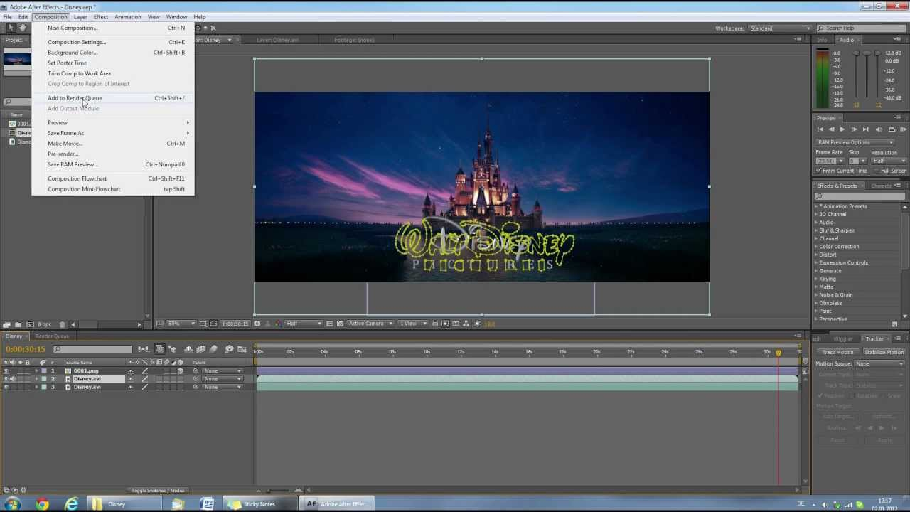 tutorial disney intro hd youtube