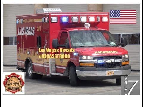 Las Vegas Fire Rescue - Rescue 201 Responding x2