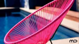 Acapulco Chair Replica - Outdoor Wicker - Pink - Milan Direct
