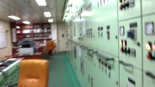 Inside Container Ship