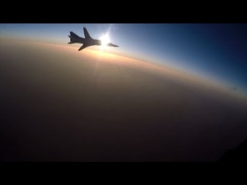 Russia releases fresh footage of jets bombing Syria