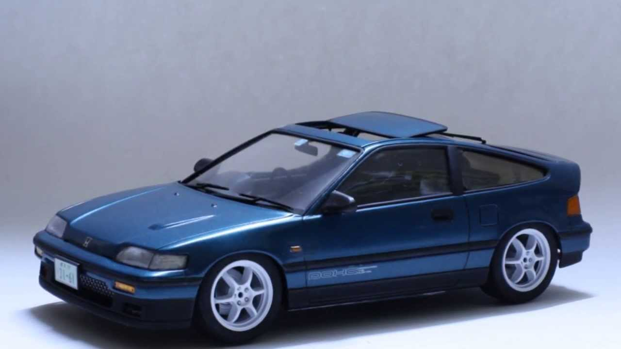 Honda Cr X >> [HD] 1:24 Fujimi's Honda CR-X By StreetBlisters.com [WIP] - YouTube