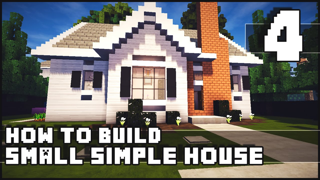 Minecraft house how to build simple small house part for Simple mansion