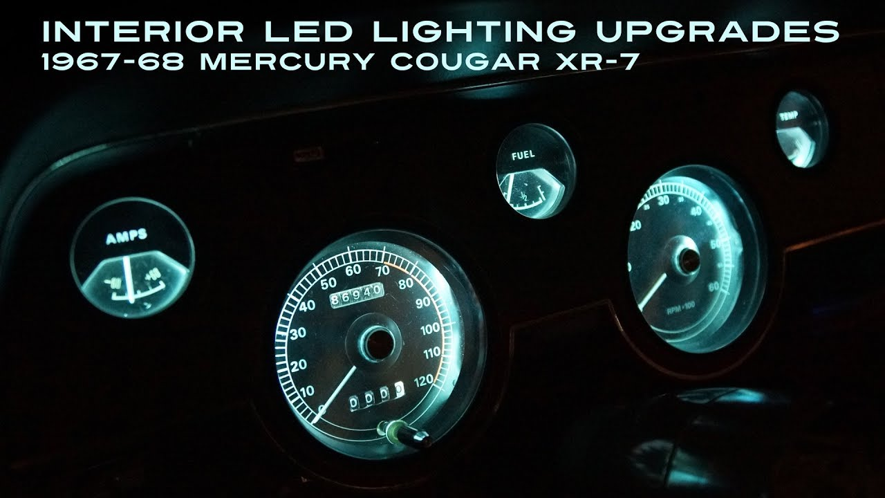 interior led lighting upgrades 1967 68 mercury cougar xr 7 [ 1280 x 720 Pixel ]