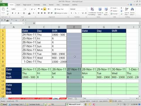 Excel Magic Trick Excel Flip Table Rotate Table TRANSPOSE - Flip table copy and paste