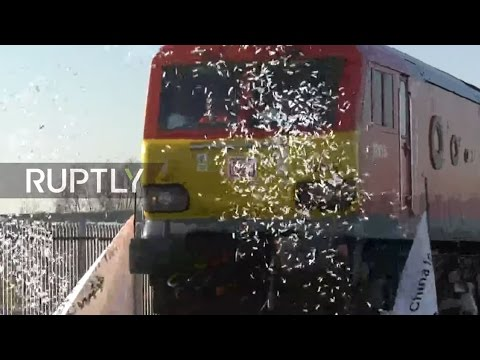 LIVE: China-UK freight train arrives in London