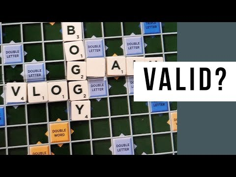 Is Vlog A Valid Scrabble Word Hasbro?